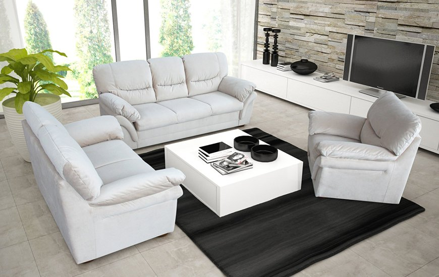 komplet wypoczynkowy rico salon meblowy sofa. Black Bedroom Furniture Sets. Home Design Ideas